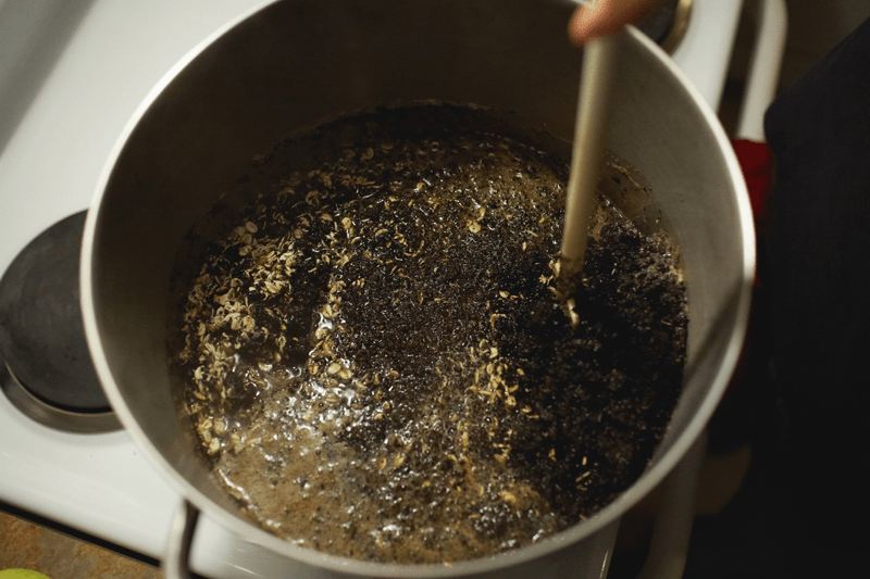 cooking grain mash