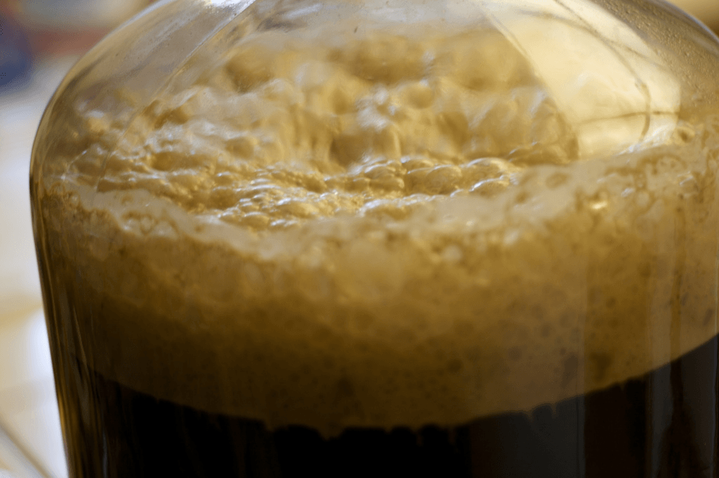 Yeast Fermenting Moonshine Wash
