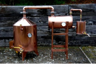 Copper Pot Still With Thumper and Worm – Learn to Moonshine