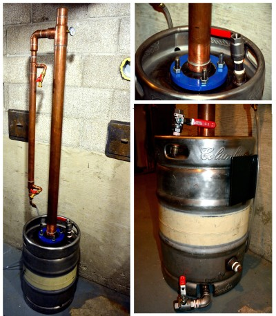 Keg Still with reflux column – Learn to Moonshine