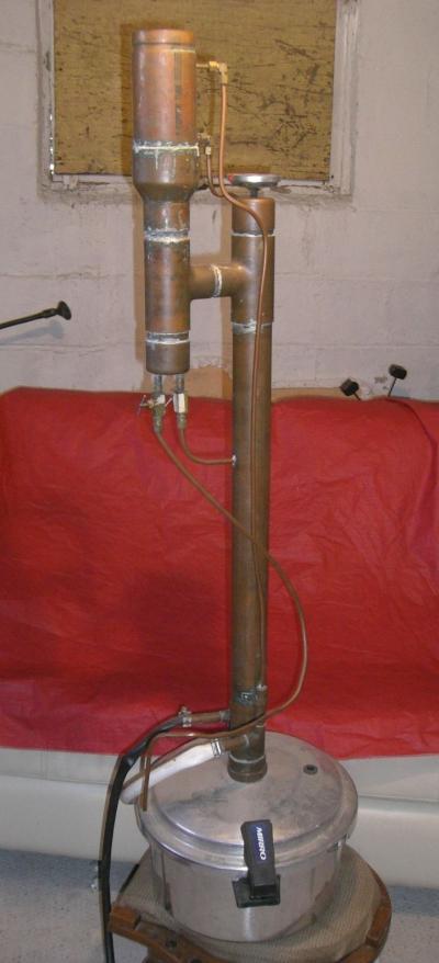 Pressure Cooker Distiller ~ Pressure cooker column still learn to moonshine