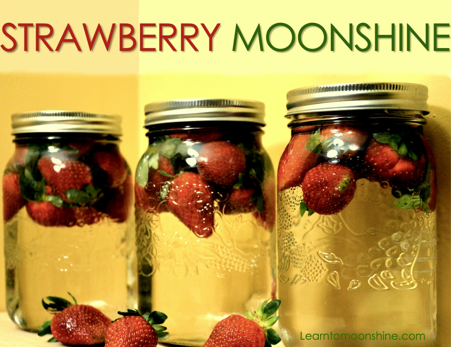 strawberry moonshine, infused, homemade moonshine