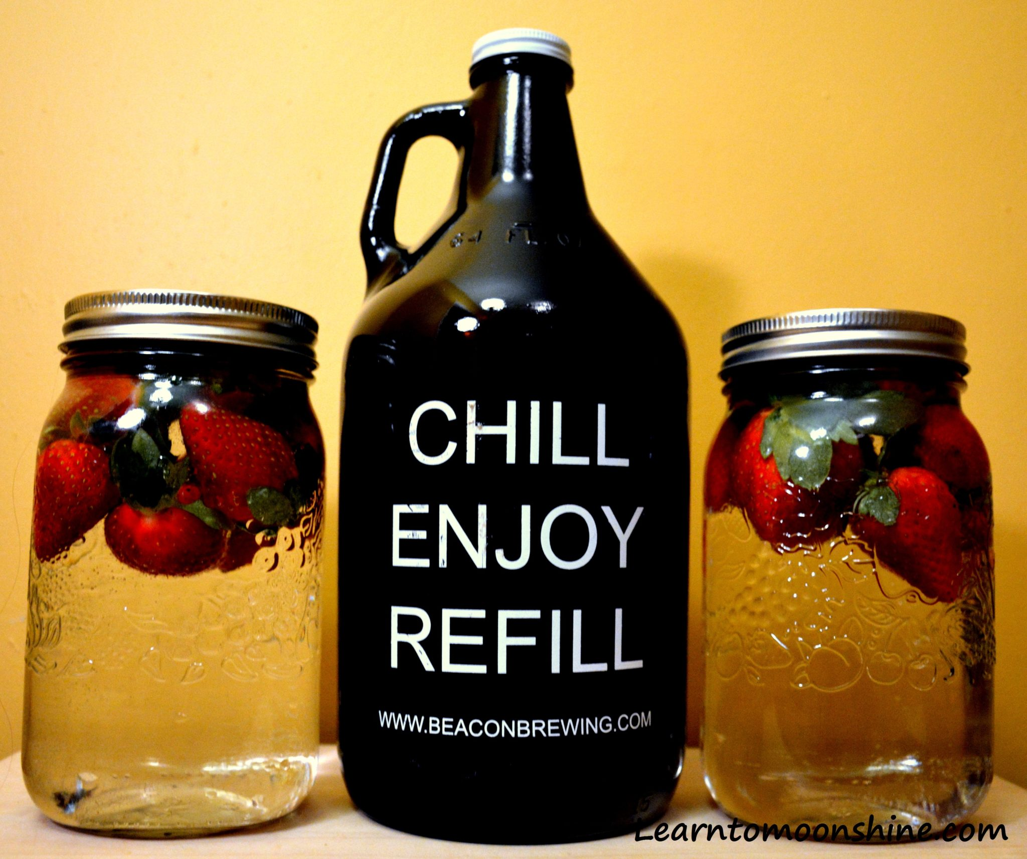 recipe, strawberry moonshine, homemade moonshine, how to make