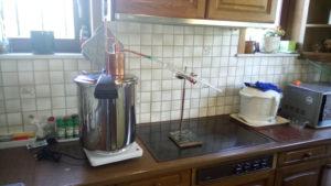 pot still, pressure cooker,gin basket, hot plate