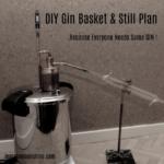 Gin basket, pressure cooker, still, blue print