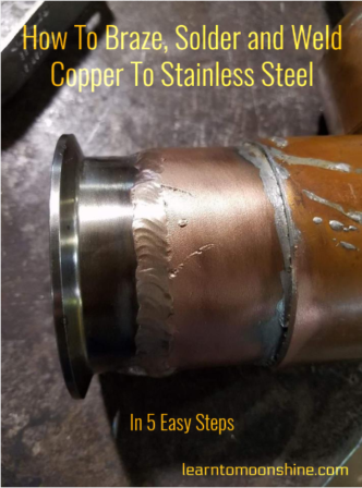 soldering,brazing,welding, copper to stainless steel, how to