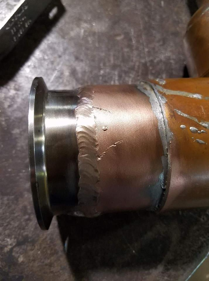 welding, copper to stainless steel