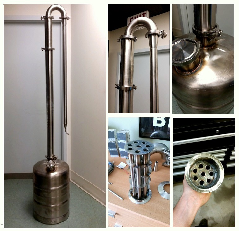 More info on this homemade still can be found at http://homedistiller.org/forum/viewtopic.php?f=50&t=51310