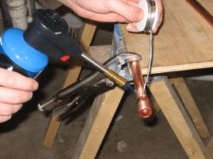 propane torch soldering copper pipe using plumbing solder