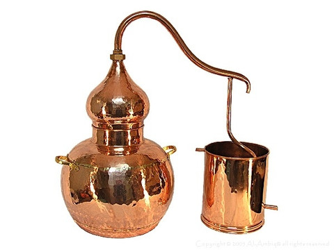 alembic copper pot still with worm