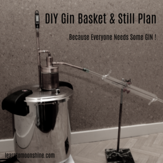 Gin basket, pressure cooker, still, blue print