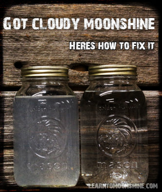 two jars of moonshine one cloudy one clear